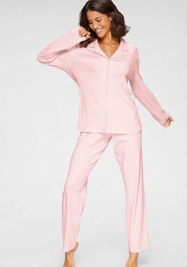 seidensticker Pyjama in klassischer Form mit Knopfleiste