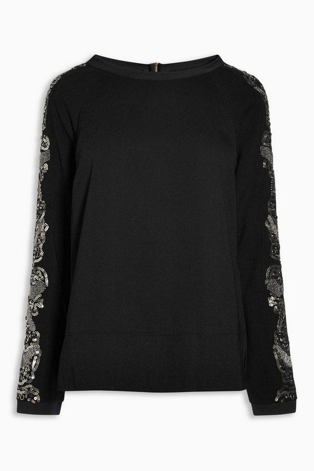 Next Verzierter Pullover in Black