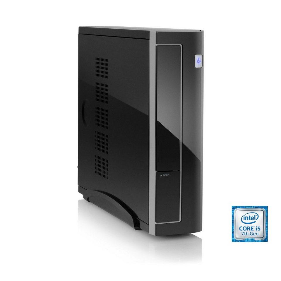 CSL Mini PC | Core i5-7400 | Intel HD 630 | 4 GB DDR4 | 120 GB SSD »Mini-ITX i5-7400 Windows 10« in schwarz