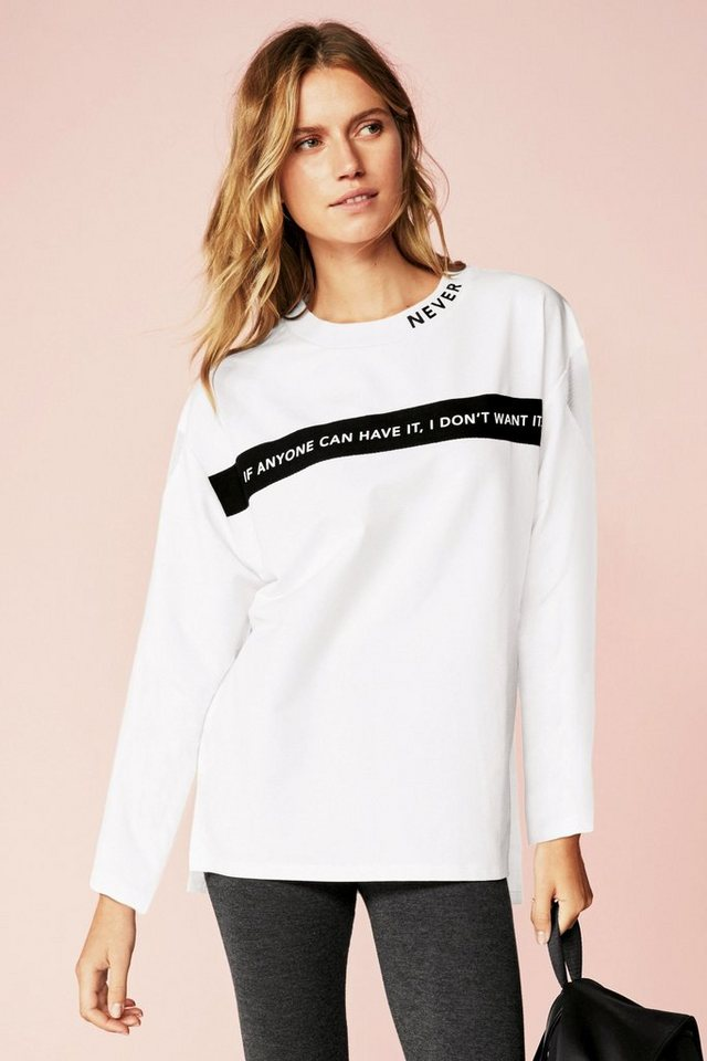 Next Oversize-Sweatshirt mit Slogan in White
