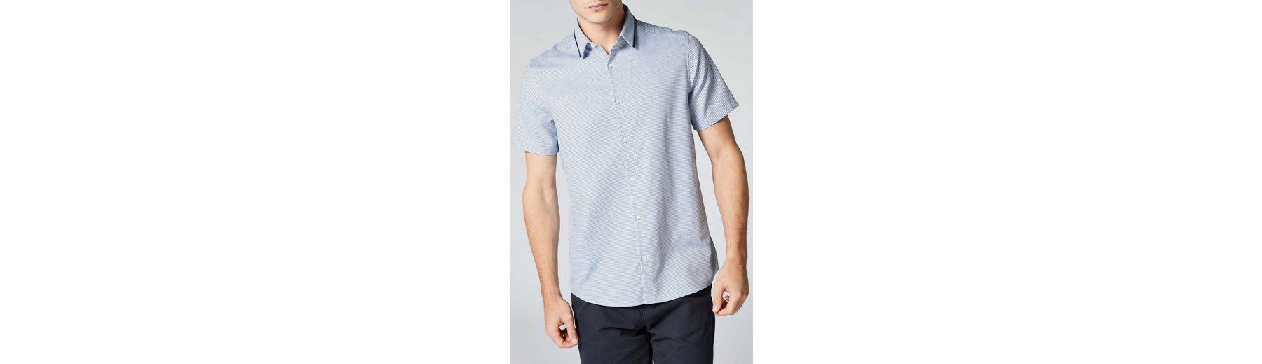Next Kurzärmeliges Hemd mit Kontrastkragen Verkaufen Kaufen ictZ9