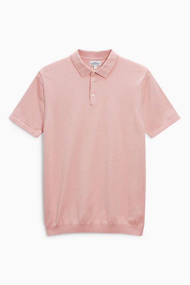 Next Kurzarm-Poloshirt in Pink