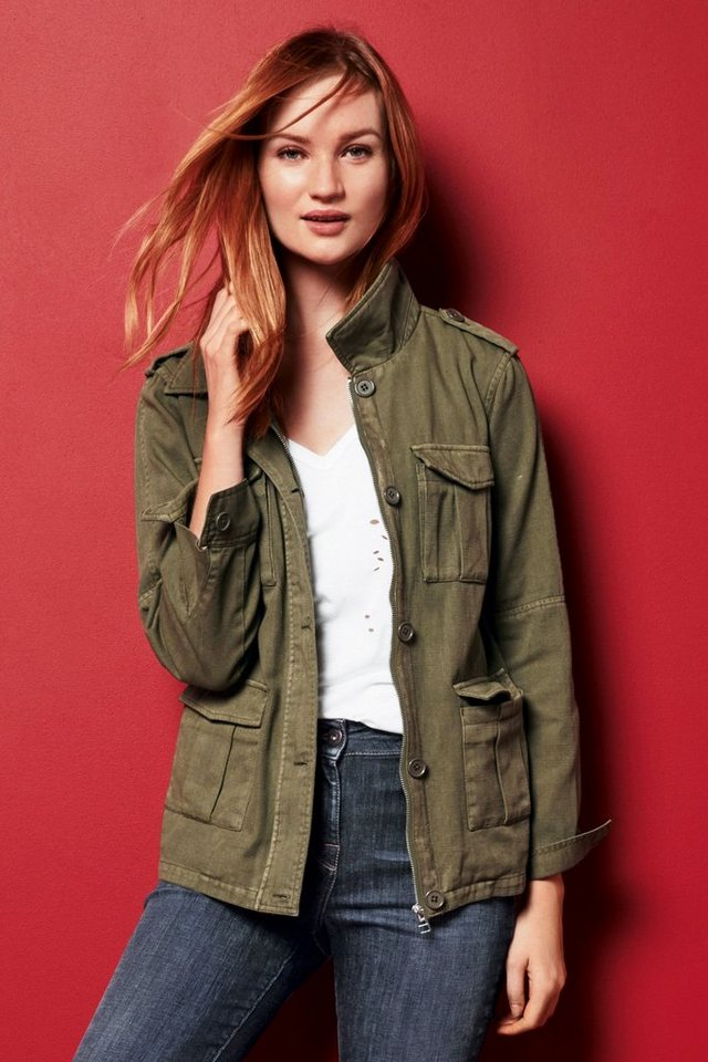 Next Jacke im Utility-Look in Khaki