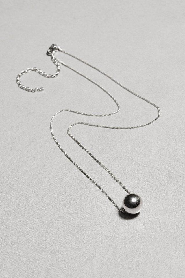 Next Silberfarbene Halskette aus Sterlingsilber mit Kugel in Sterling Silver