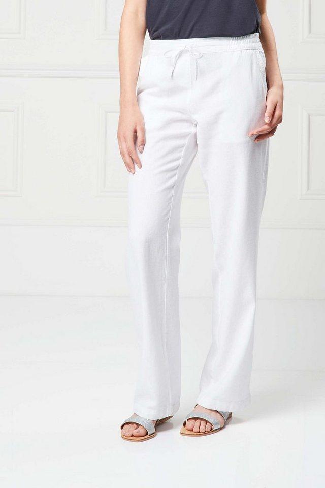 Next Hose aus Leinengemisch mit geradem Bein in White