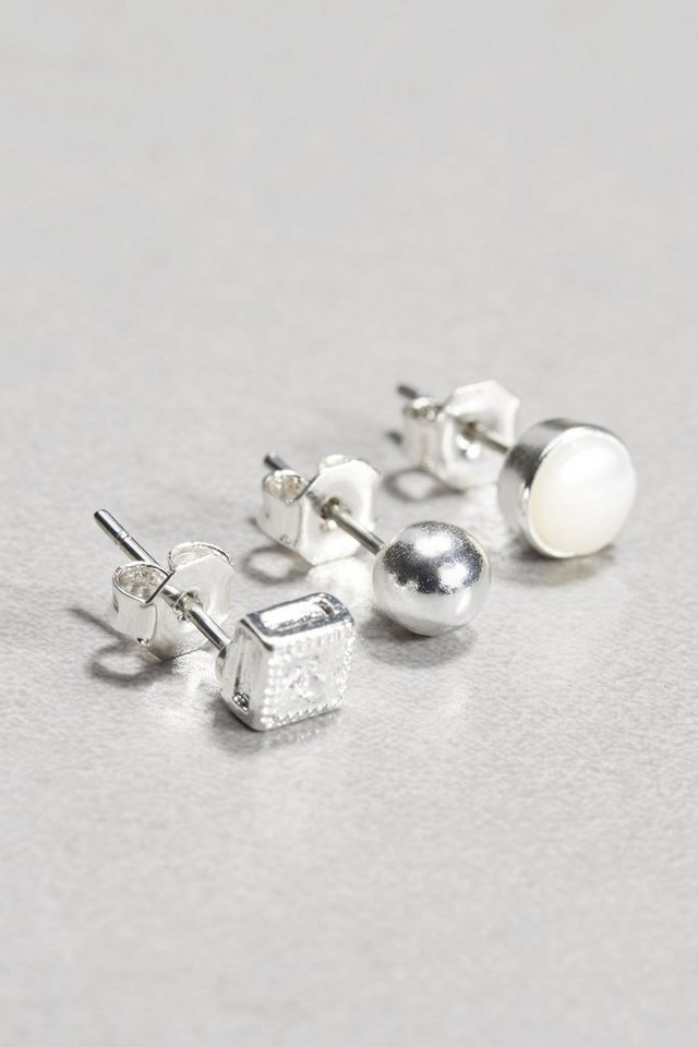 Next Ohrstecker, 3er-Pack in Silver plated