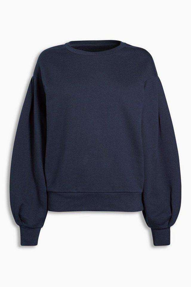 Next Sweatshirt in Ballon-Schnitt in Navy