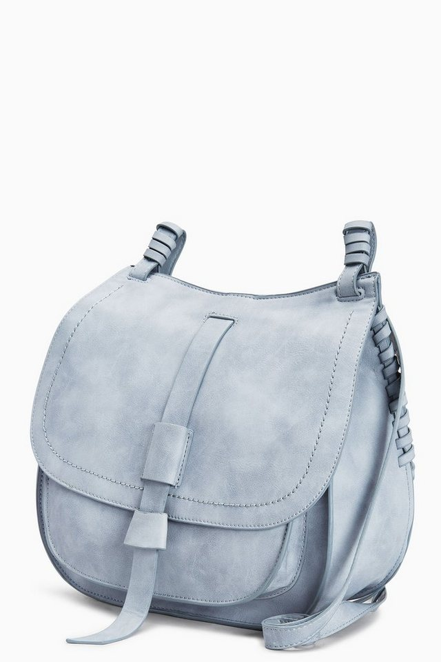 Next Legere Tasche in Satteltaschenoptik in Pale Blue