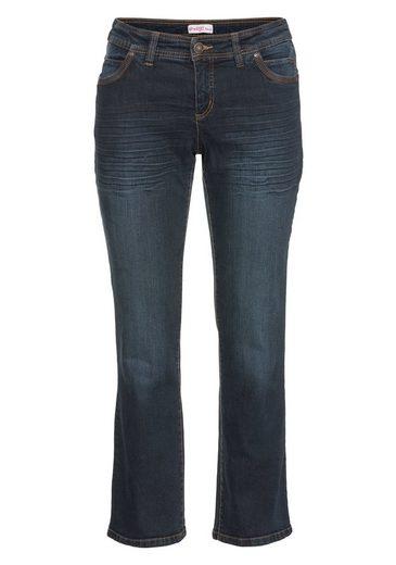 sheego Denim Stretch-Jeans, im Used-Look