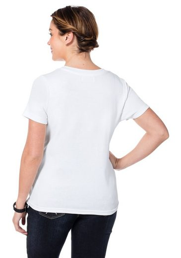 sheego Casual T-Shirt, mit Frontprint
