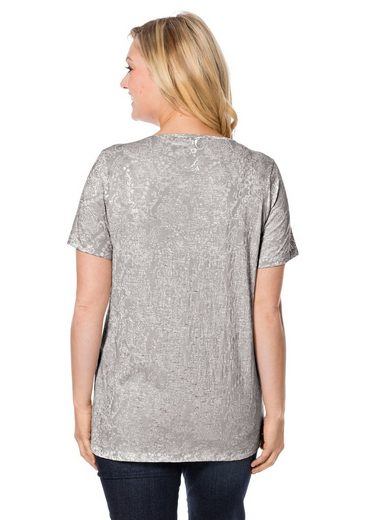 sheego Casual T-Shirt, in Ausbrenner-Qualität