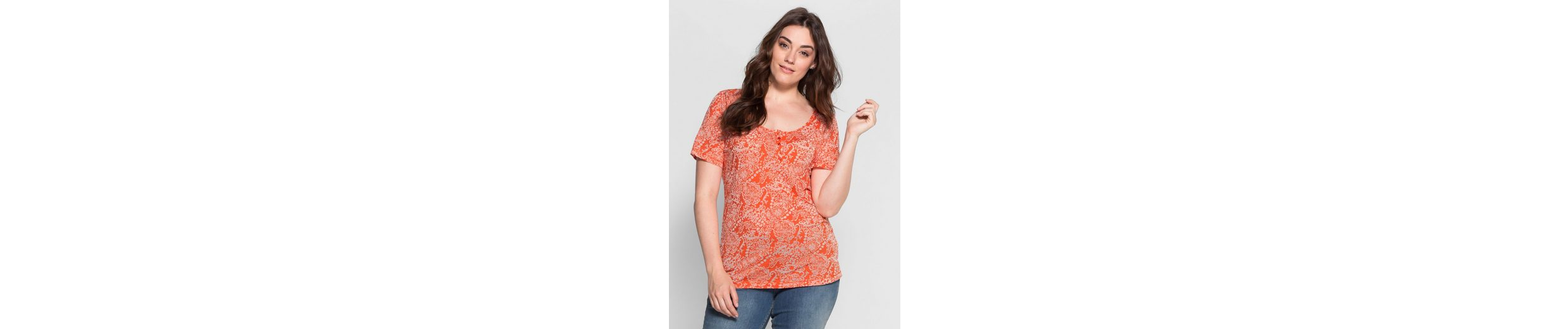 sheego Casual T-Shirt, in Ausbrenner-Qualit盲t
