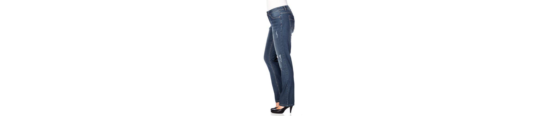 sheego Denim Stretch-Jeans, Mit Destroyed-Effekten