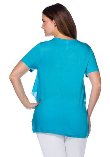sheego Style T-Shirt, Lageneffekt