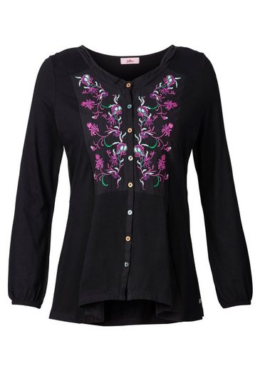 Joe Browns Blouses Shirt, With Tie Belt In The Back And Inserts From Webware