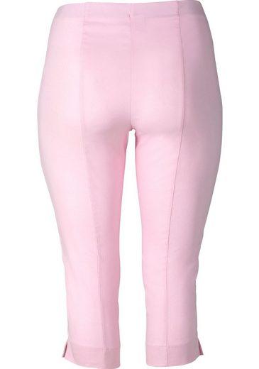 sheego Basic 3/4-Hose, knitterarm und pflegeleicht