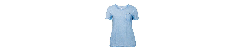 T sheego sheego Casual Shirt Casual T Oil in Shirt Optik washed 1gA1TXRF