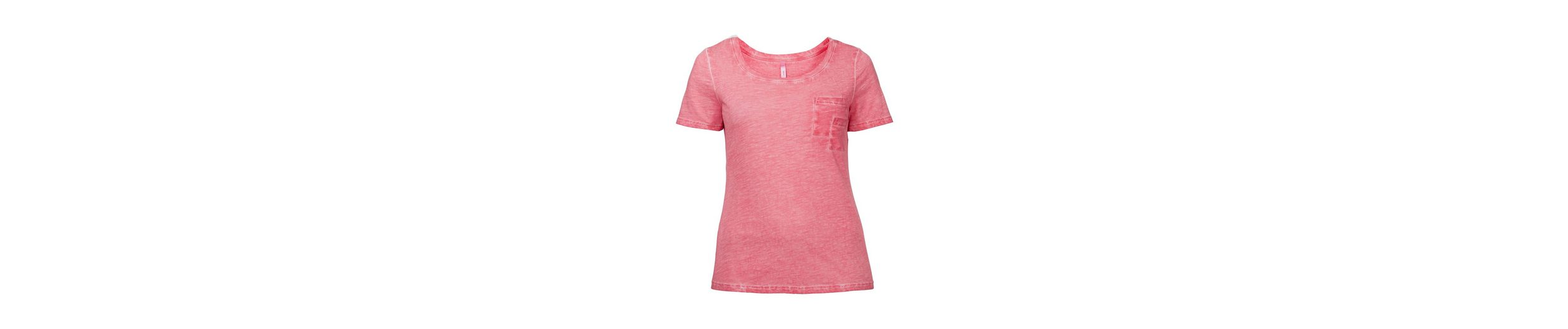 sheego Casual T-Shirt, in Oil-washed-Optik
