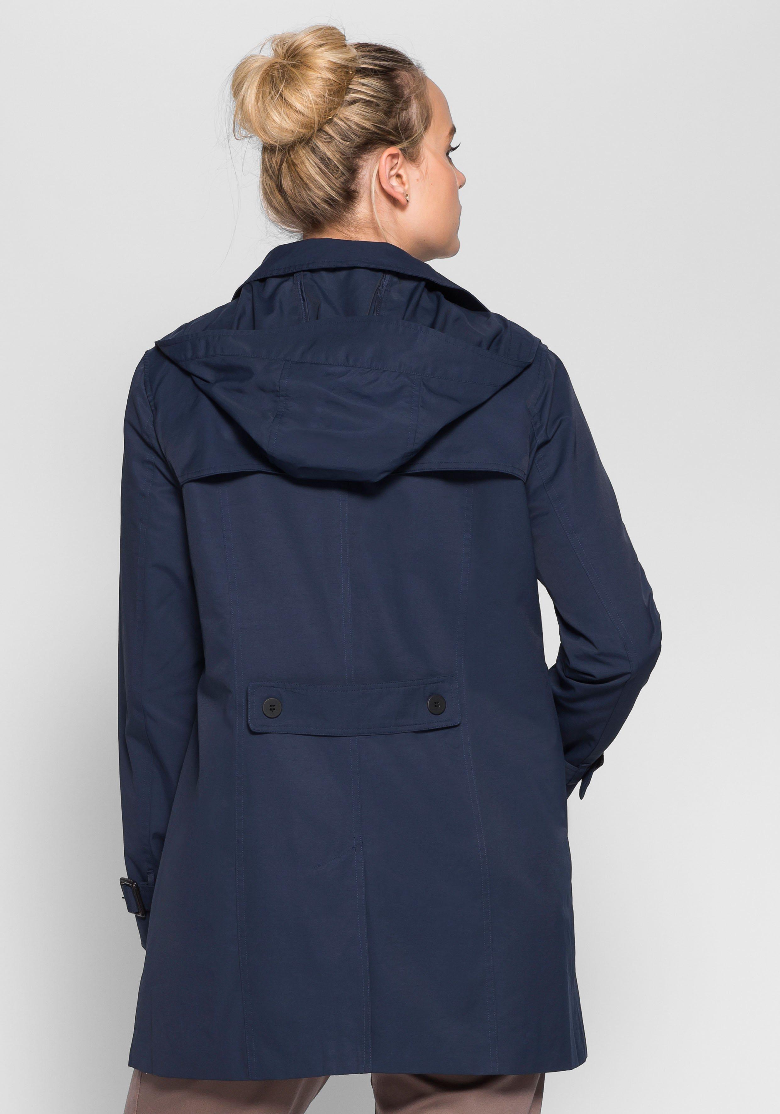 sheego Casual Trenchcoat, Winddicht und wasserabweisend durch beschichtete Baumwolle | Bekleidung > Mäntel > Trenchcoats | sheego Casual