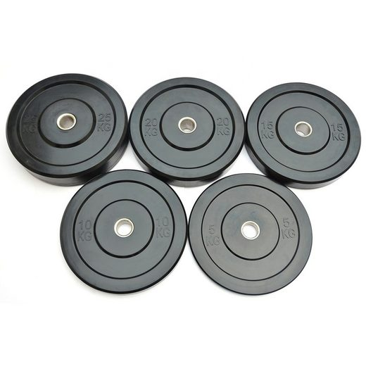 Technofit Hantelscheiben »Bumper Plate Hantelscheiben 2x 5 kg für 50 mm Hantelstangen«