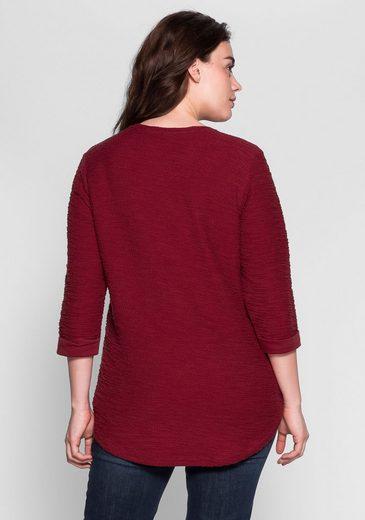 sheego Casual Sweatshirt, In aktueller Bouclé-Qualität