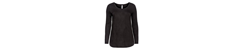 sheego Style Langarmshirt, im Material-Mix