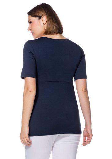 sheego Class T-Shirt, in Wickeloptik