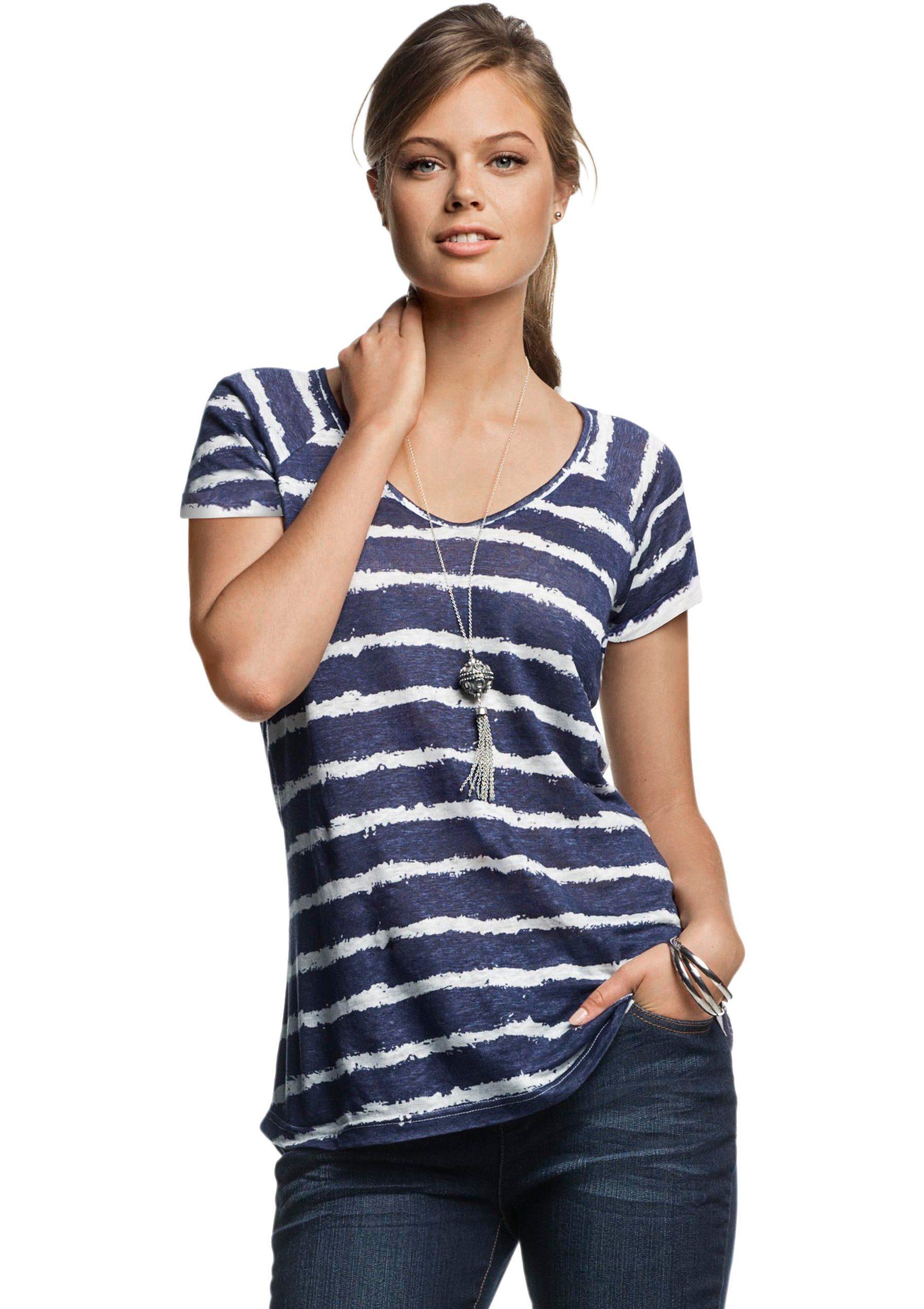 Ambria Shirt mit Maritim inszeniertem Streifen-Muster
