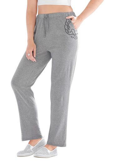 Classic Basics Leisure Trousers Ziersteinchen With Sparkling