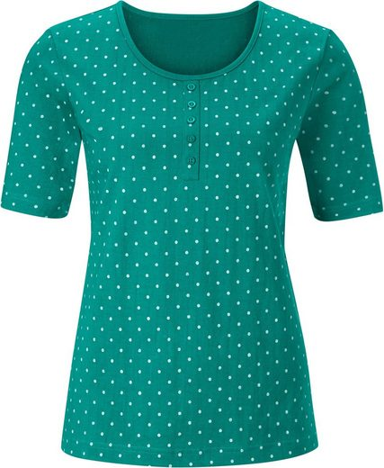 Collection L. Shirt mit Zierknopfleiste