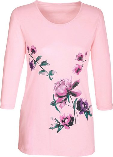 Classic Basics Shirt mit floralen Druck-Motiven