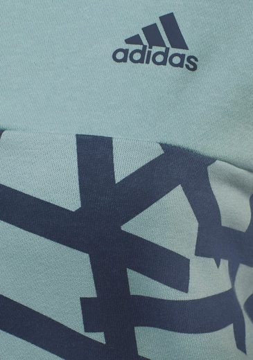 adidas Performance Kapuzensweatjacke ESSENTIALS ALL OVER PRINT FULL ZIP HOODIE