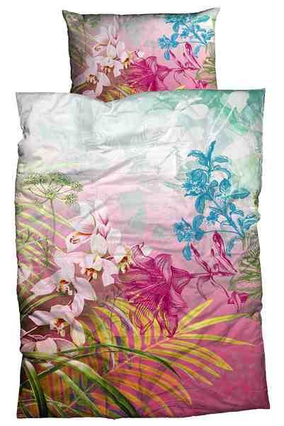 Bettwäsche, Sister S, »Ibis«, mit Blüten-Motiven
