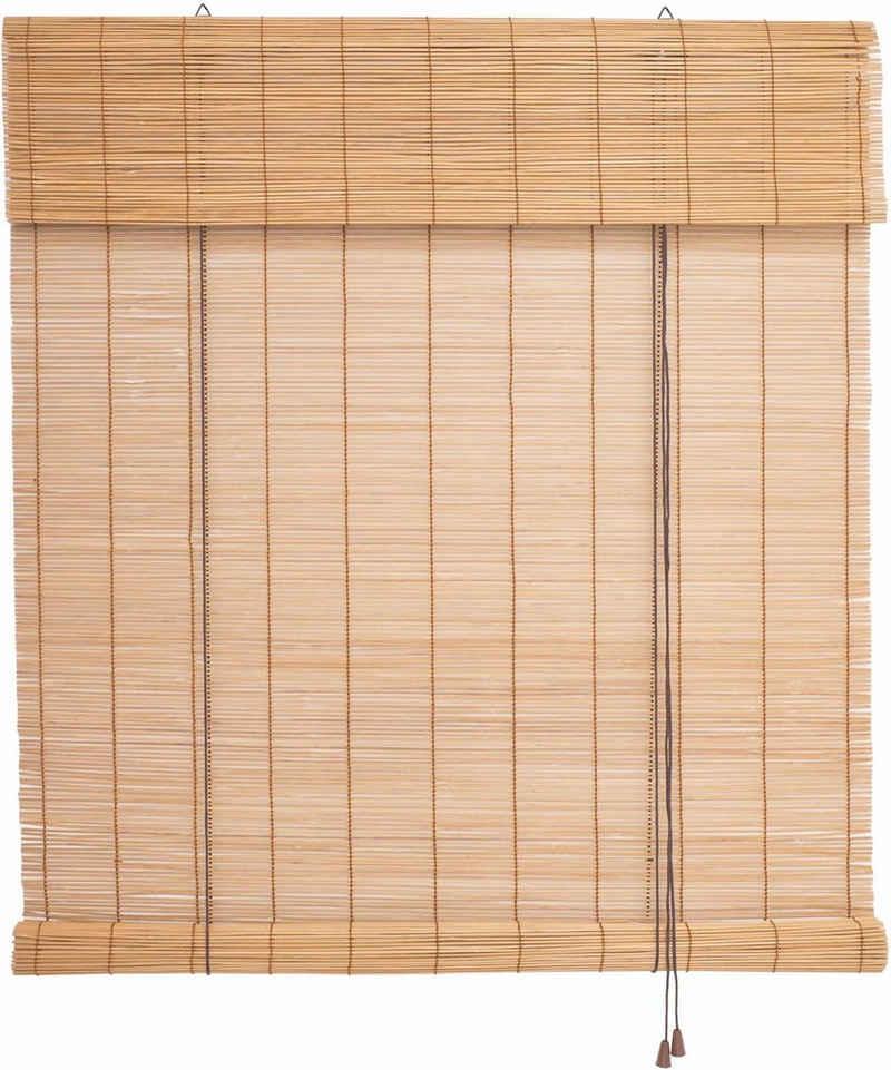 Seitenzugrollo »Bambus«, Liedeco, Lichtschutz, Bambusrollo