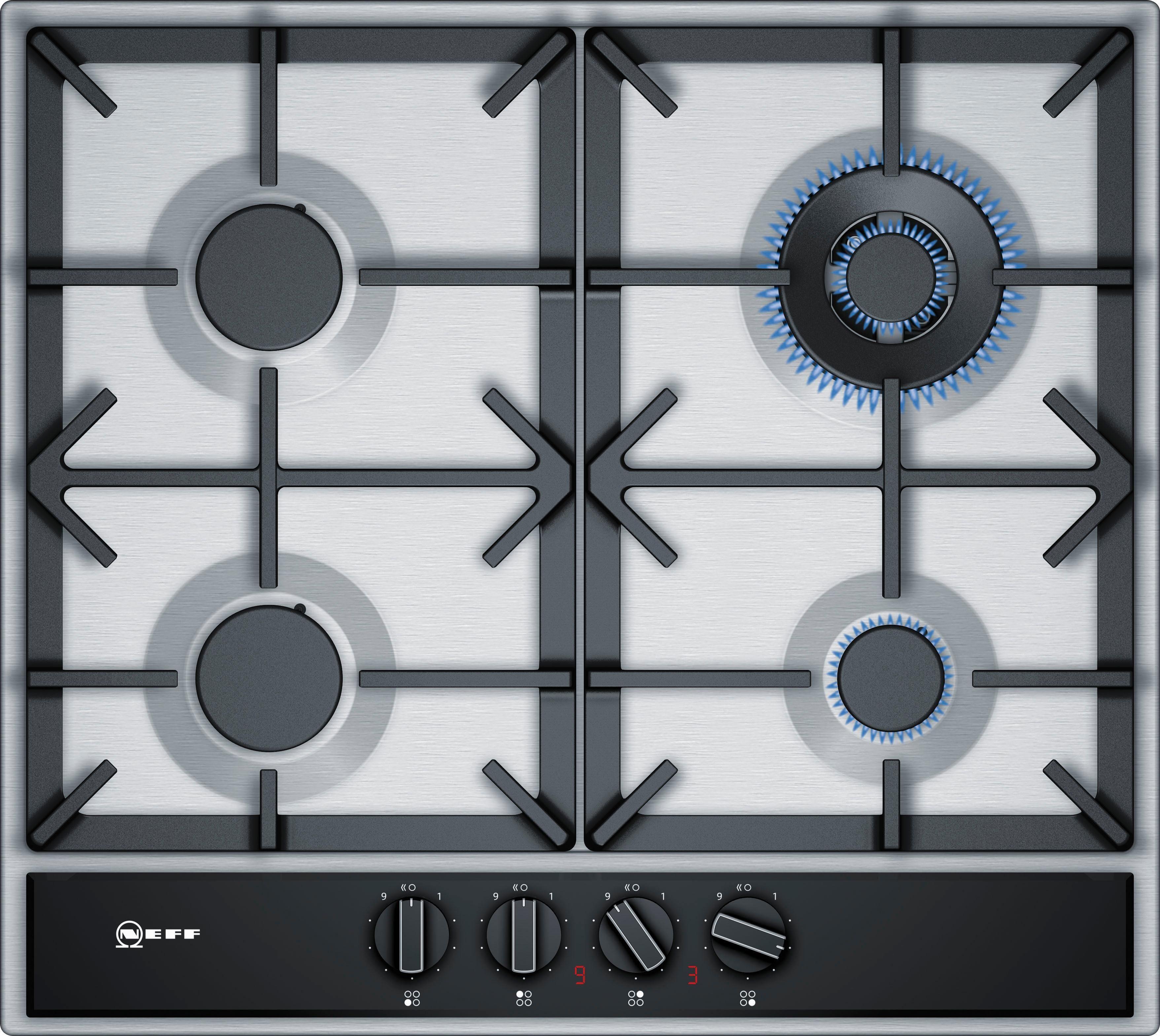 NEFF Gas-Kochfeld TDA2659N / T26DA59N0D, mit integrierten Kochstellenreglern