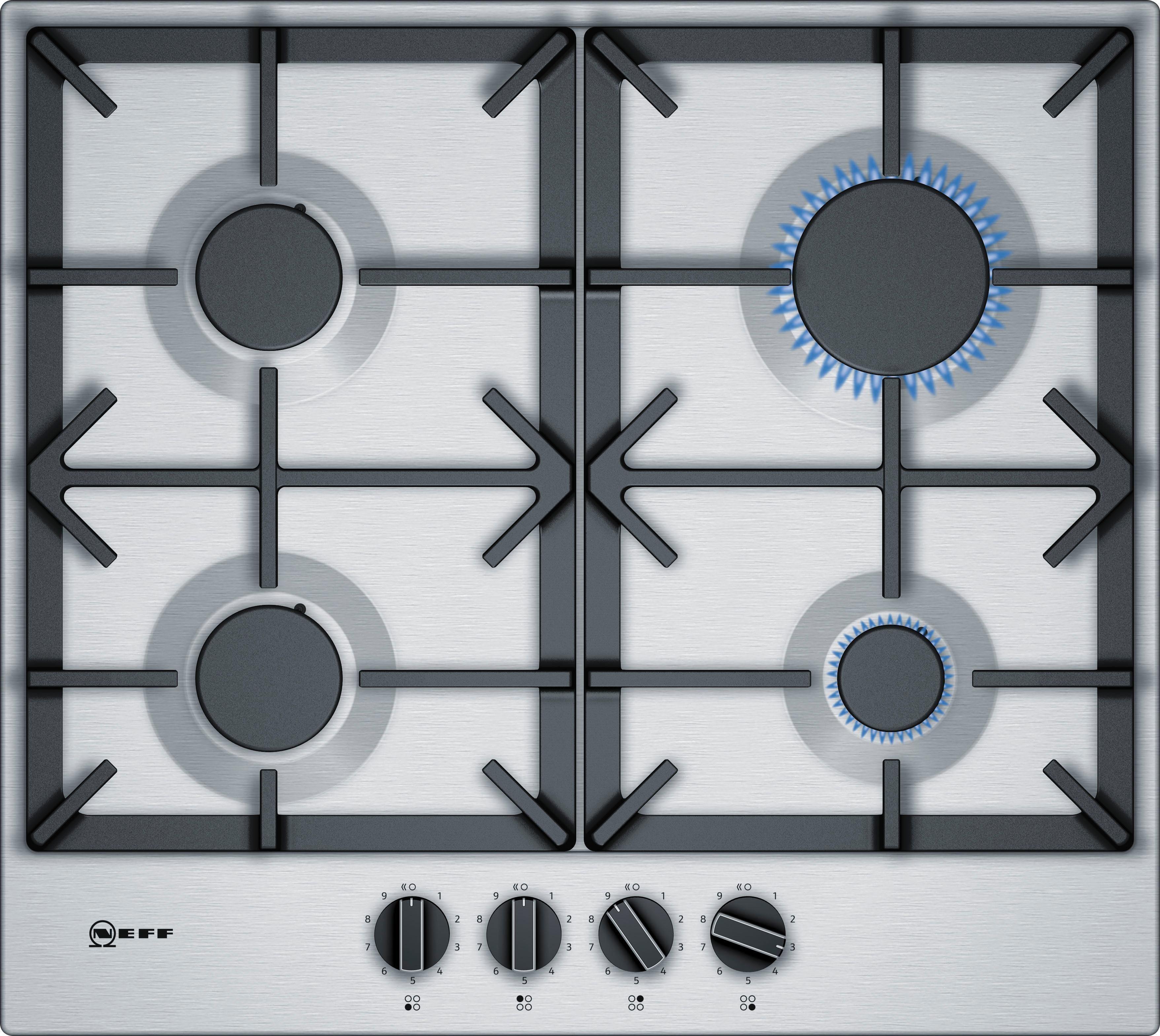 NEFF Gas-Kochfeld TDS2649N / T26DS49N0D, mit integrierten Kochstellenreglern