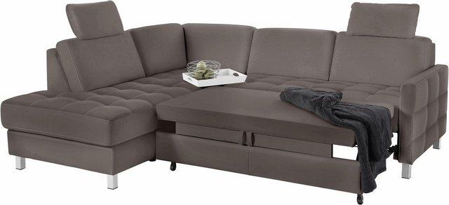 sit&more Ecksofa, wahlweise mit Bettfunktion | Wohnzimmer > Sofas & Couches > Ecksofas & Eckcouches | Grau | sit&more