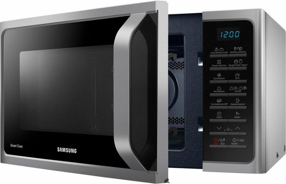 samsung mikrowelle mc28h5015cs eg mit grill und hei luft 28 liter 900 watt online kaufen otto. Black Bedroom Furniture Sets. Home Design Ideas