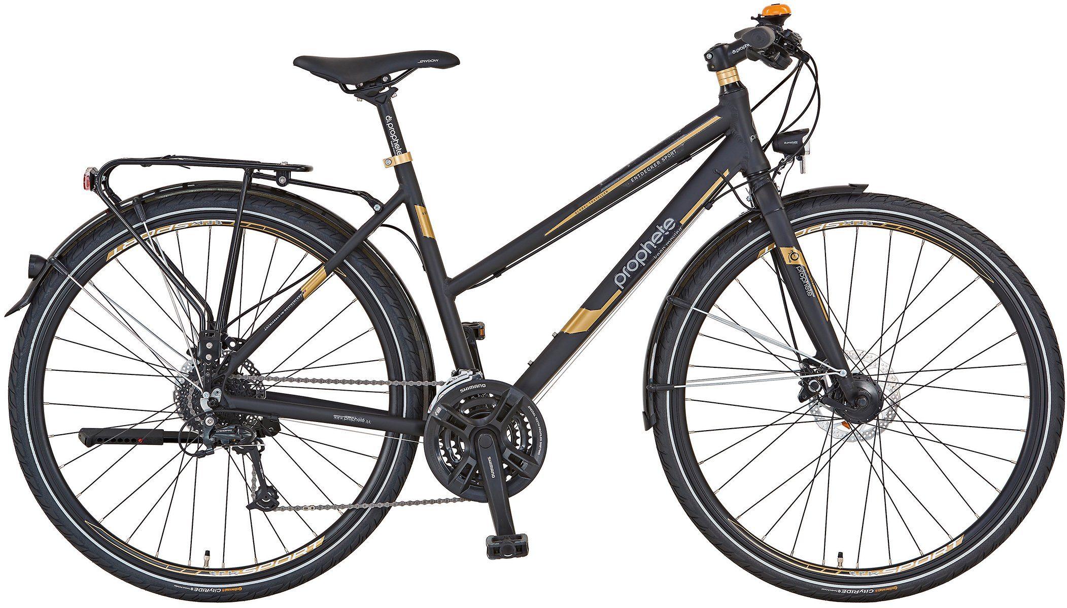 Prophete Trekkingrad »Entdecker Sport«, 27 Gang Shimano Deore Schaltwerk, Kettenschaltung
