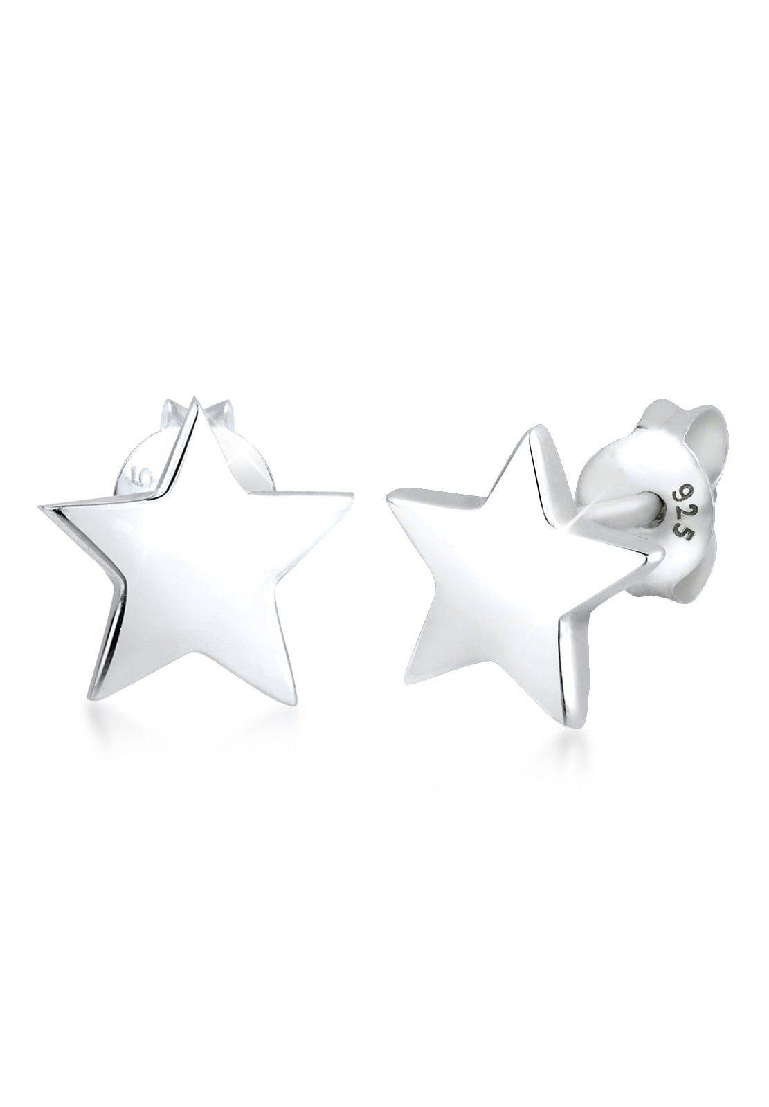 Elli Ohrringe »Stern Astro Trend Filigran Basic 925 Silber«