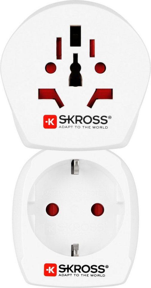 SKROSS Reiseadapter Universal »Country Combo World to Denmark«
