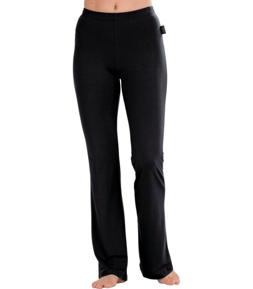 TRIGEMA Schlaghose Polyester/Elastan in schwarz