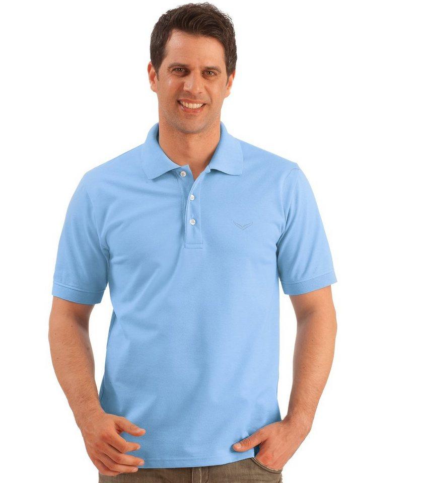 TRIGEMA Polo-Shirt Piqué-Qualität in horizont