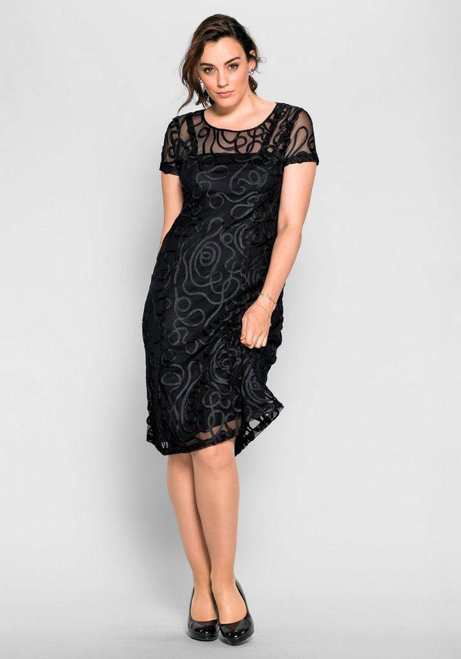 sheego Style Spitzenkleid, Aufwendiges Muster aus ...