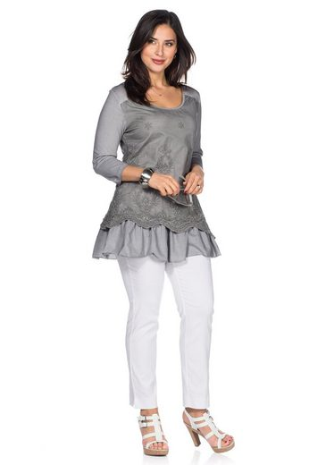 sheego Style Longshirt, mit individuelle Waschung