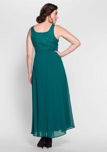 sheego Style Abendkleid, Spitze mit Blumen