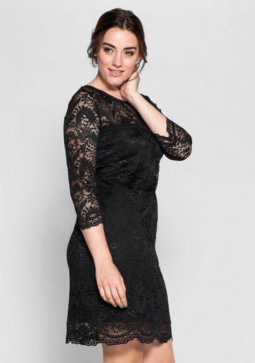 Anna Scholz for sheego Spitzenkleid, Blickdicht durch Futter aus Jerseyware