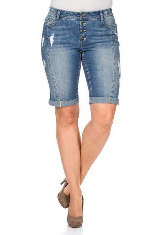 SHEEGO Džinsiniai šortai-bermudai
