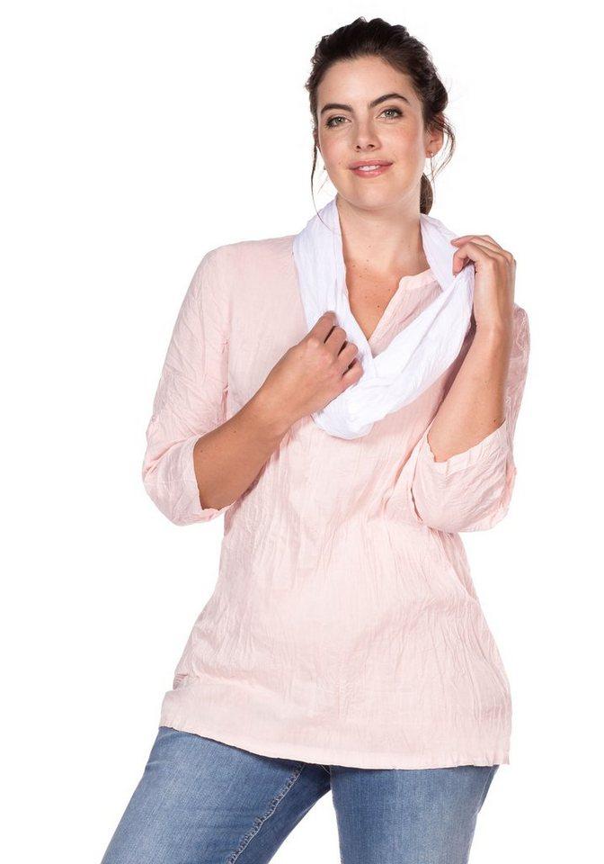 sheego Casual Tunika Gecrinkelte Qualität   Bekleidung > Tuniken   Rosa   sheego Casual
