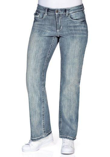 Sheego Stretch-Jeans mit Kontrastnähten